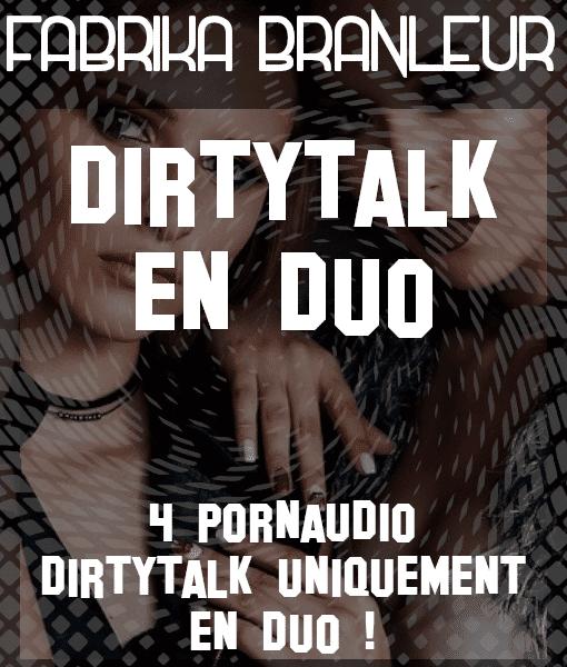 """Image du pack de pornaudio de dirtytalk et d'instruction de masturbation """"Dirty talk en duo"""""""